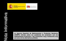 Actuaciones ante los problemas de suministro de fortecort n 1 mg fortecort n 4 mg y fortecort n - Merck mollet del valles ...